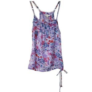 AEO Purple & Pink Floral Tank Top Size XS
